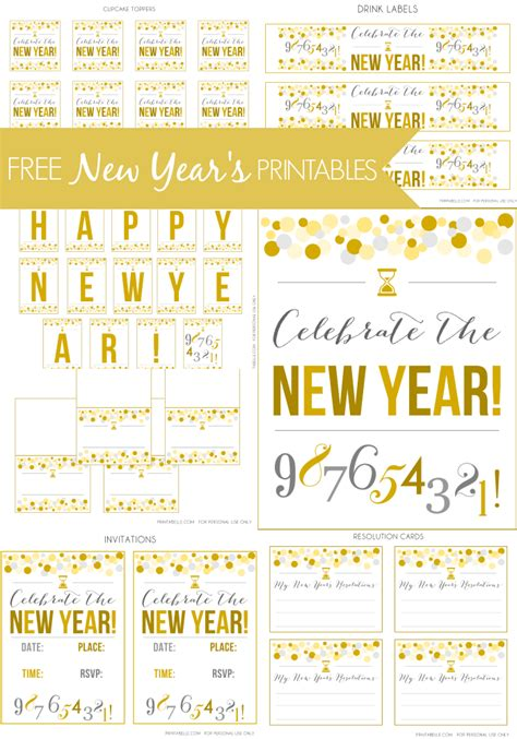 new year printables free new year s printables catch my