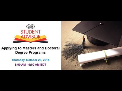 phd student advisor free webinar applying to masters and doctoral degree