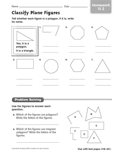 plane figures worksheets worksheets for all and
