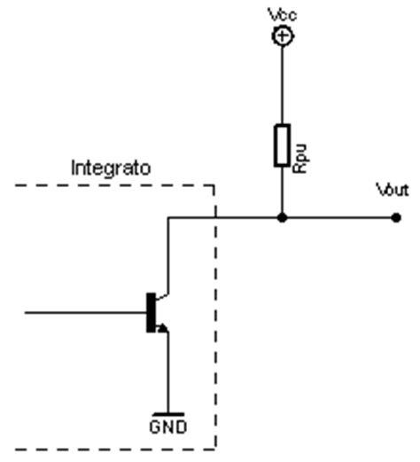 transistor npn open collector sensore di gas