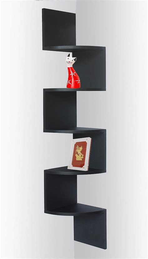 Zigzag Corner Shelf by Corner Shelving Units Review Of Best Storage And