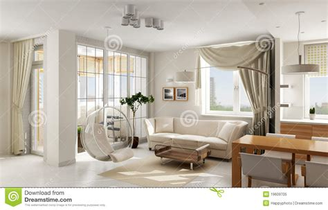 luxury apartments room interior design rendering interior of modern luxury apartment royalty free stock