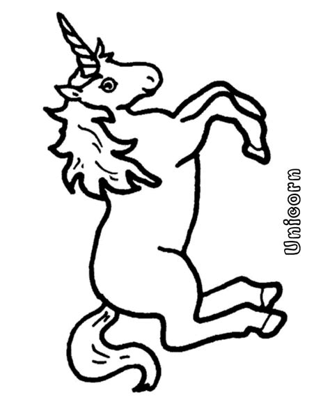 easy unicorn coloring page simple unicorn outline coloring pages