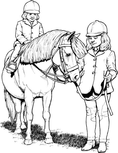pony ride coloring pages western riding horse coloring pages realistic coloring pages