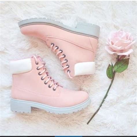girly slippers shoes pink boot boots white pastel teenagers