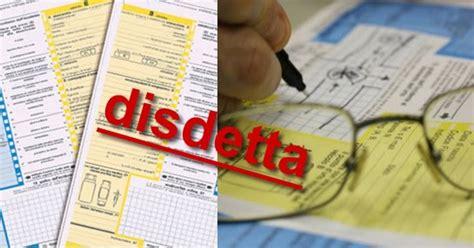 lettere di disdetta assicurazione lettera disdetta assicurazione
