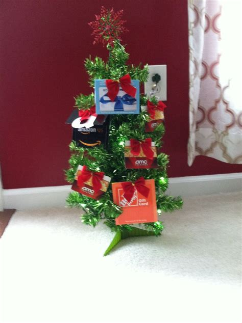 Gift Card Tree Ideas For Christmas - gift card tinsel christmas tree i made way more fun than