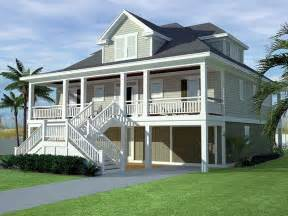 elevated house plans beach house