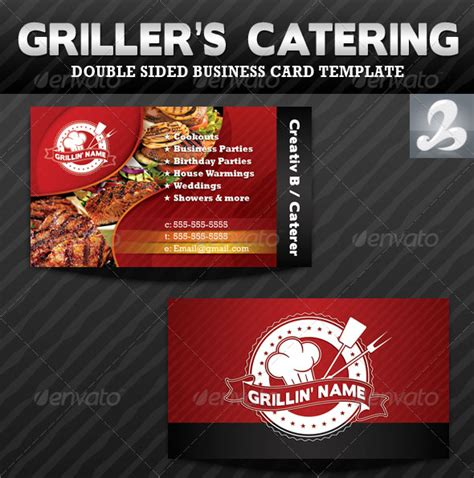 catering card template 56 visually stunning psd business card templates web