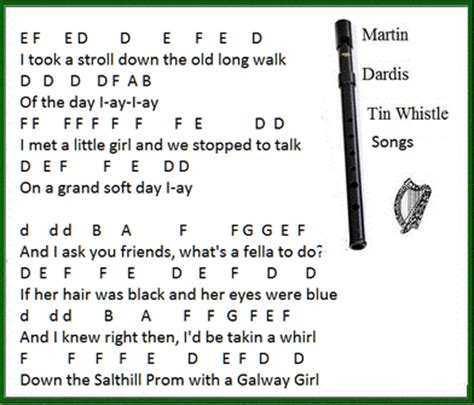 whistle testo galway song lyrics guitar chords and tin whistle