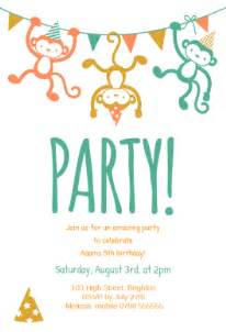 childrens free printable birthday invitation template greetings island