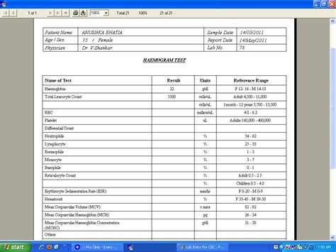 blood lab report template cbc laboratory reports http www pic2fly cbc