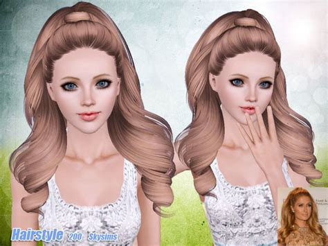 sims 3 resource hair skysims hair 200