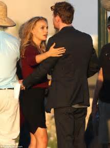 natalie portman is locked in a tender embrace with michael