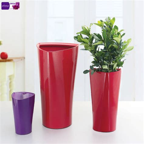 Plastic Flower Vases Bulk by White Triangle Flower Pot Plastic Flower Pot Houseplants