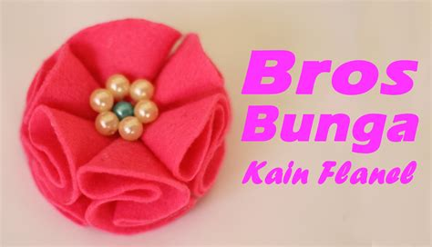 Bros Bunga Besar Flanel 8000pcs cara membuat bros bunga mutiara dari kain flanel