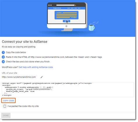adding  setting   google adsense app  center