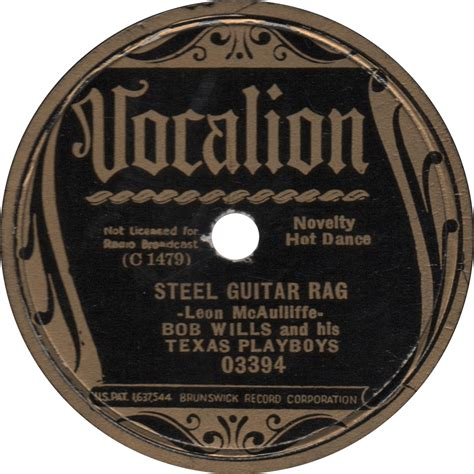 bob wills steel guitar rag 1936 vocalion time blues page 2