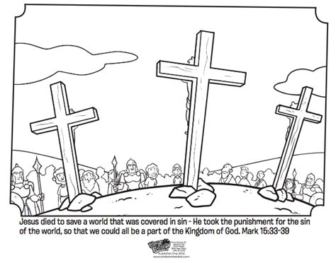 jesus dying on the cross coloring pages