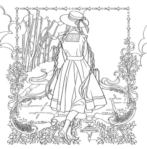 anne of green gables coloring pages coloring home