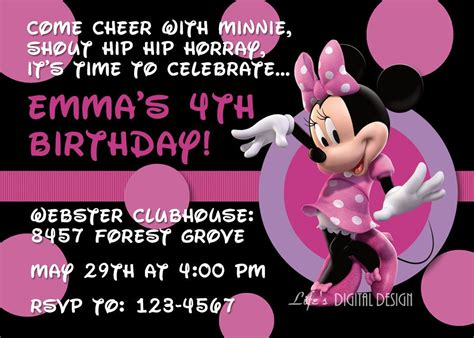free printable minnie mouse invitations template best