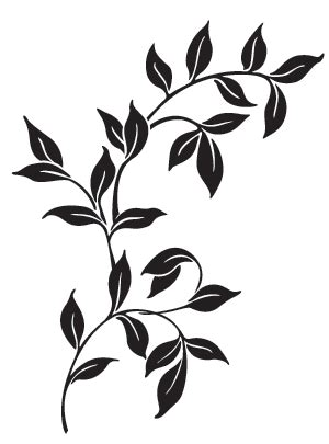 simple vine pattern custom patterns and stencils for etching faux painting