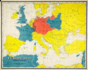 Europe Map 1939 by 1939 Lithograph Map Europe Fortune Magazine World War Ii