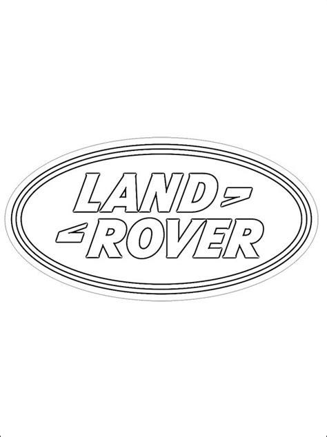 Dibujo de logo Land Rover para colorear   Dibujos para