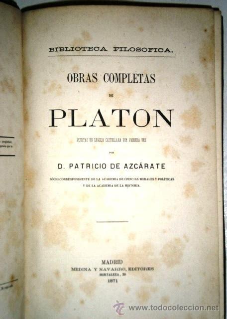 libro obras completas de platn obras completas de plat 243 n 11t por patricio de a comprar