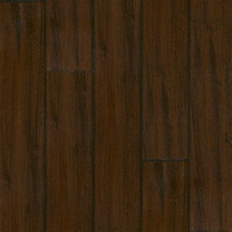 shop armstrong 7 64 in w x 7 5 ft l brazilian sapele handscraped laminate wood planks at lowes com