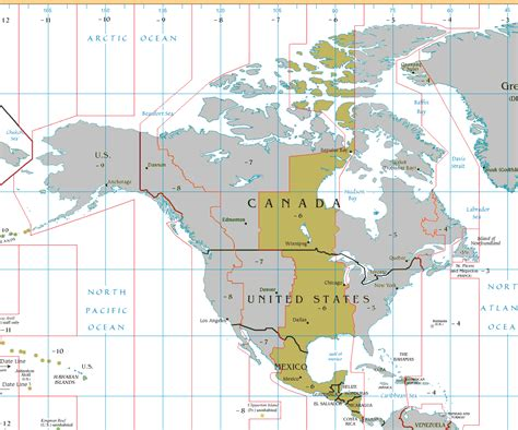 central time map belize time zone map