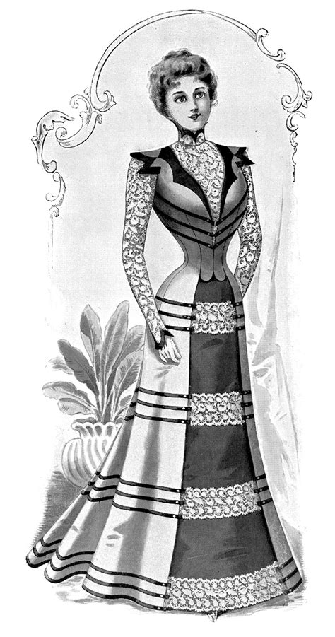 Free Stock Image   Victorian Fashion Plate Lady   The