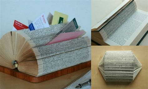 Diy Card Display Rack by Diy Business Card Display Stand Made Of A Folded Book