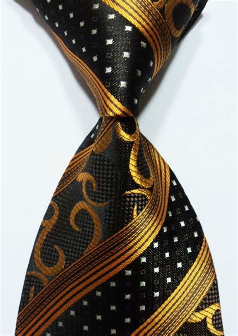 classic gold black copperstriped 100 new jacquard woven