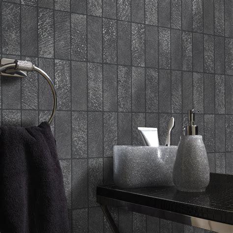 black and white bathroom wallpaper uk holden tile pattern wallpaper faux effect stone kitchen