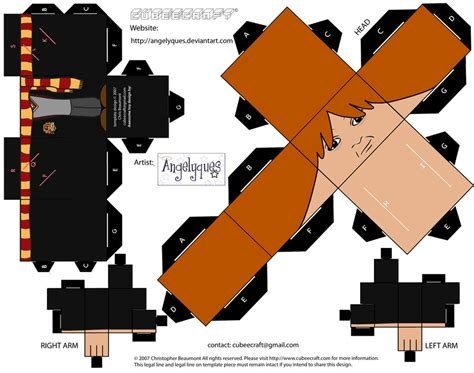Harry Potter Papercraft - weasley cubee by etchings13 on deviantart