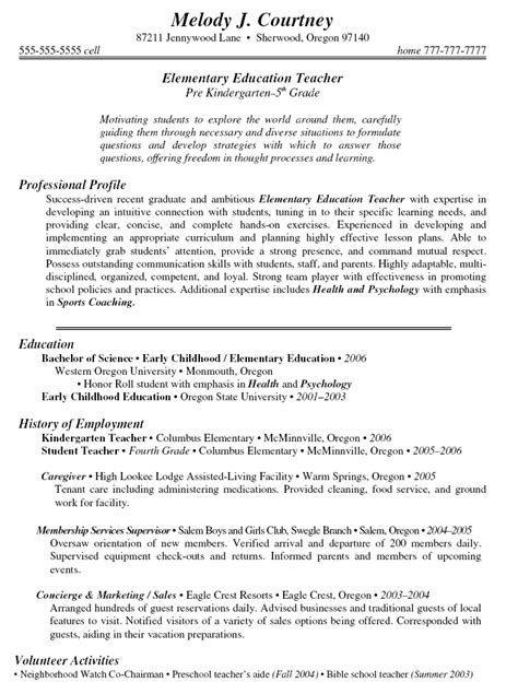 preschool resume in los angeles sales
