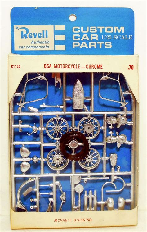 Revell Modell Motorrad by Vinatge Revell Parts Pack Chrome Bsa Motorcycle 1 25 Scale