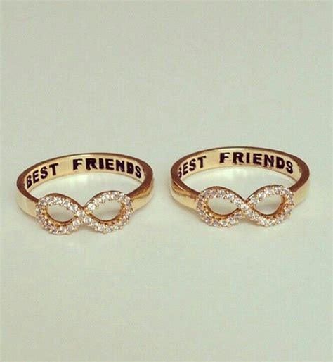 infinity ring best friends friendship rings for best friends eternity jewelry