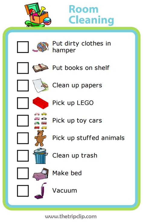 clean bedroom checklist week 5 room cleaning checklist the trip clip blog