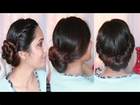 3 Simple & Easy 3 Minutes Bun Hairstyle   YouTube