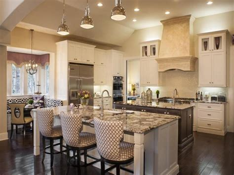 Luxury Kitchen Plan With High Back Chairs And Classic