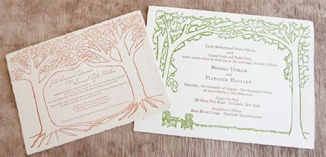 Handmade Paper Invitations - handmade paper outdoor wedding invitation tiny pine press