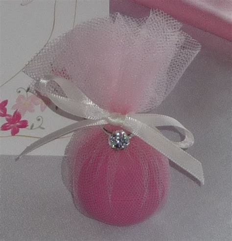 1 Dollar Ring Bath Bombs by Bridal Shower Favor Using Eos Wrapped In Tulle With Faux