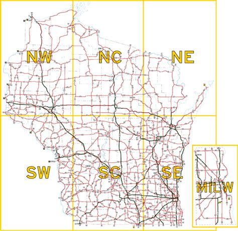 wisconsin road map image gallery wisconsin highways