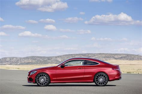 convertible mercedes red all new 2017 mercedes benz c class coupe revealed with