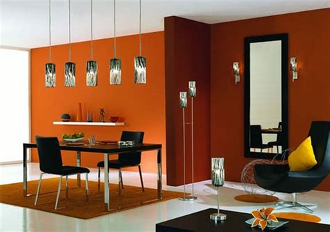 white and orange dining room color schemes home interiors