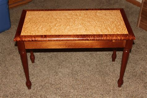 custom made bench custom made sapele and birdseye maple piano bench by j and