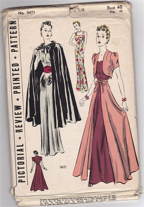 pattern review dress form pictorial review 9471 1930s dress vintage sewing pattern
