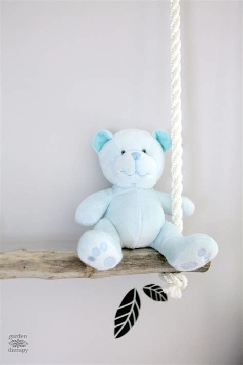 stuffed animal swing diy branch swing shelves